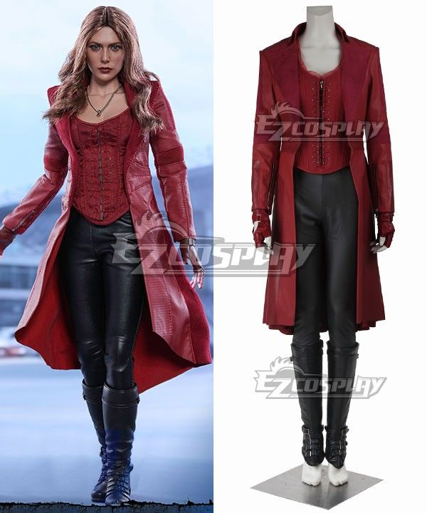 Marvel Captain America Civil War Scarlet Witch Wanda Maximoff Cosplay Costume