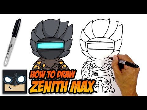 How To Draw Zenith Max Fortnite Step By Step Tutorial Youtube Easy Cartoon Drawings Cartooning 4 Kids Drawings