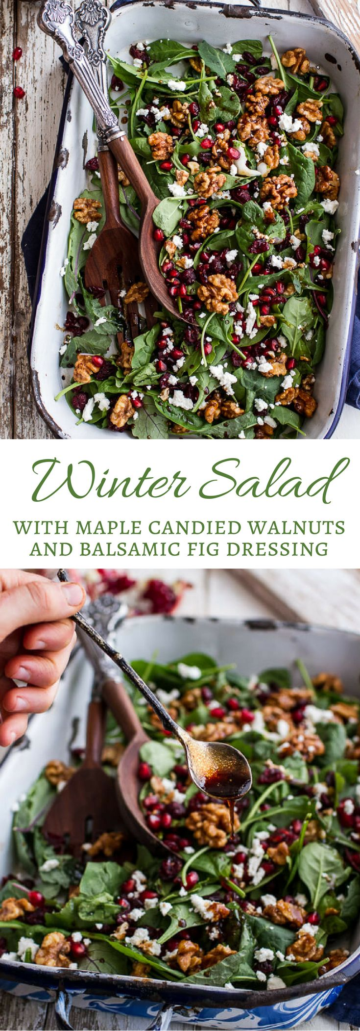 Winter Salad with Maple Candied Walnuts and Balsamic Fig Dressing | halfbakedharvest.com @hbharvest