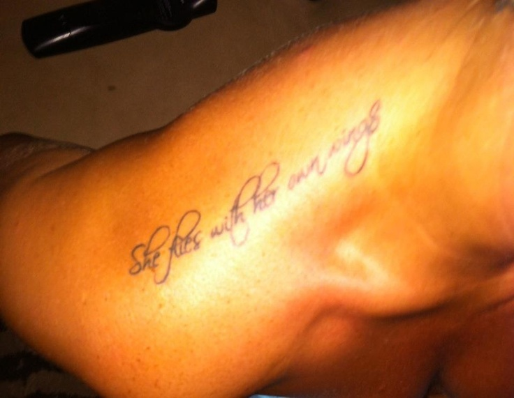 Shoulder quote tattoo | ink | Pinterest