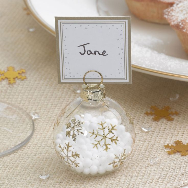 Winter Wonderland - Bauble Place Card Holders | UK Wedding Favours