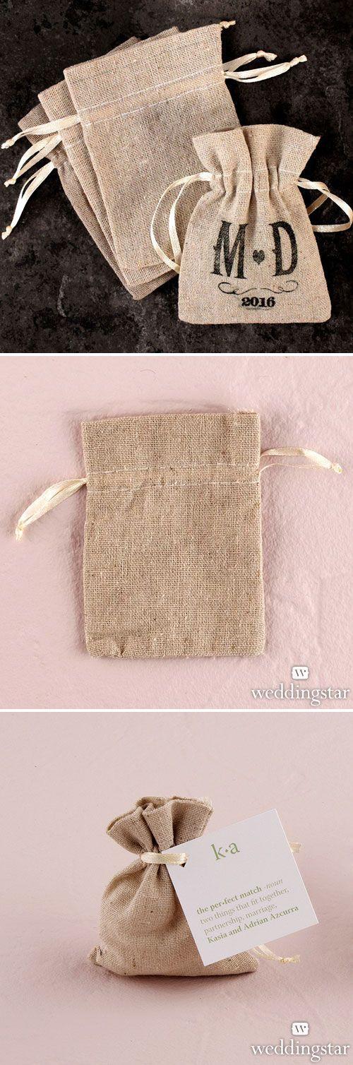 Rustic Wedding // Mini Burlap Favor Bags