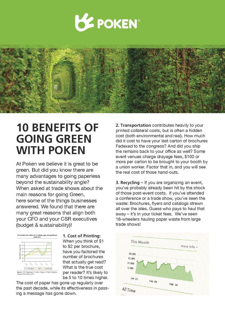 Green benefits of going paperless. www.poken.com
