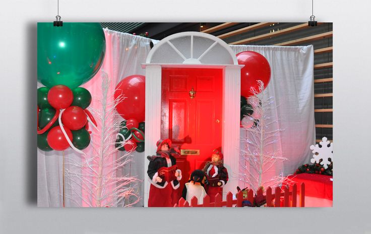 Red Georgian Door with white fanlight surround & Carol Singer Statues. Ideal for an entrance of Christmas scene http://www.prophouse.ie/portfolio/red-door/