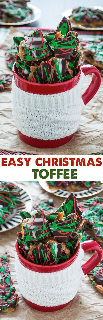 This toffee recipe is amazing and super easy to make for the holidays!