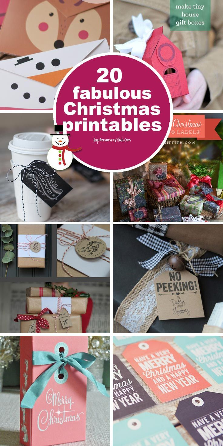 20 Free Christmas Printables for a Fabulous Holiday Season