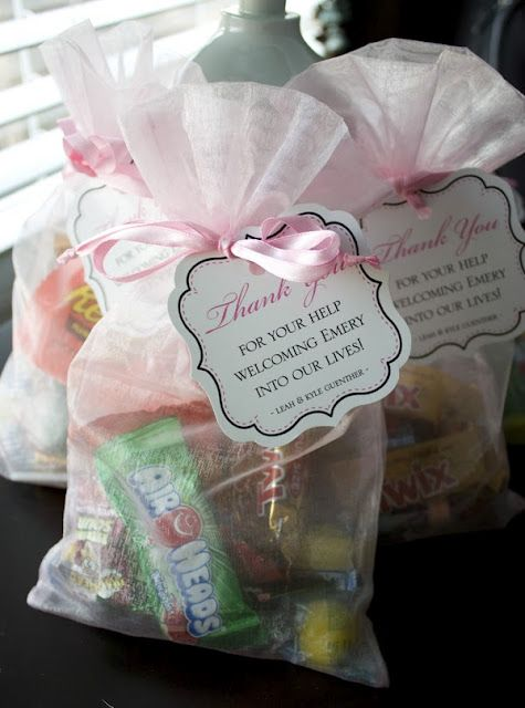 goodie bags for l nurses... such a good idea! Sadly, will probably never need this pin, but this is WAY TOO CUTE of an idea to not repin!