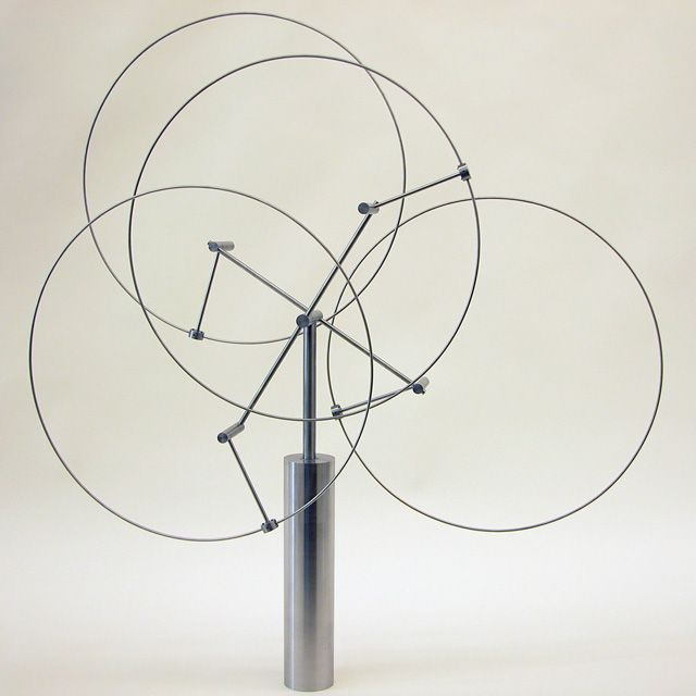 Kinetic sculptures are a favorite...