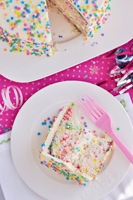 Funfetti Cake via Sweetapolita--note to self: Annie of Annie's Eats highly recommends this cake