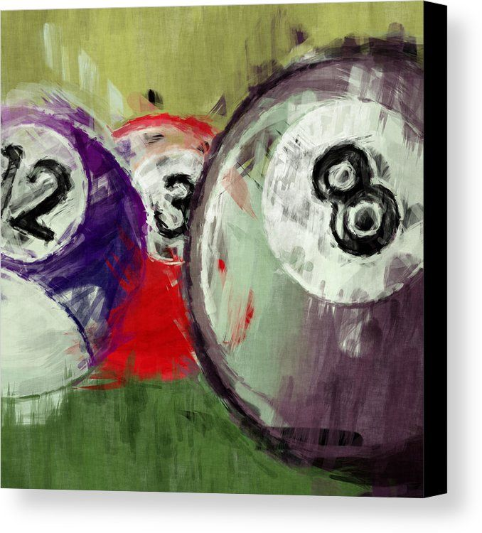 Billiards 12 3 8 Canvas Print by David G Paul. All canvas prints are professionally printed, assembled, and shipped within 3 - 4 business days and delivered ready-to-hang on your wall. Choose from multiple print sizes, border colors, and canvas materials.
