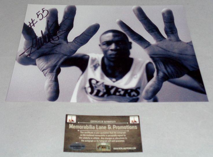 Dikembe Mutombo 76ers autograph 8x10 COA Memorabilia Lane & Promotions