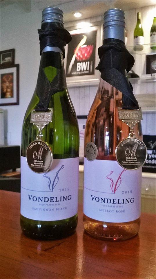 Vondeling's Sauvignon Blanc 2015 and Merlot Rosé both won Gold in the 2015 Michelangelo Awards