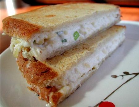 Grilled Crab and Cheddar Sandwich | food | Pinterest