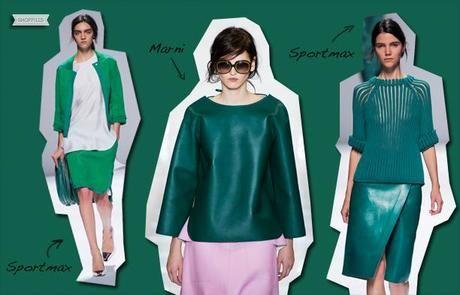 verde smeraldo abiti tendenze moda primavera estate 2013