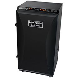 Create delectably savory foods with this insulated smoker from Cajun Injector. This metal smoker offers an automatic shutoff for safety, while the digital controls allow you to maintain perfectly cust