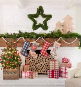 asteri-me-girlanta Ideas to decorate the house with Christmas garlands