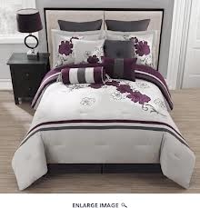 gray purple bedroom - Like the use of gray with the purple and white.  Maybe yellow to accent