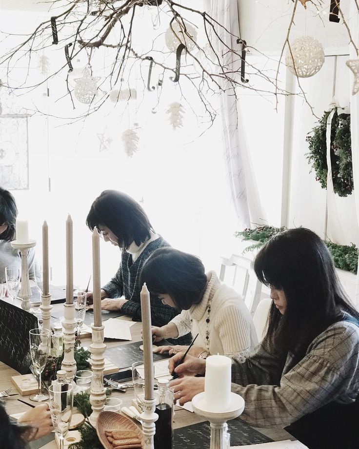 Table setting item calligraphy workshop  @studiobouquet