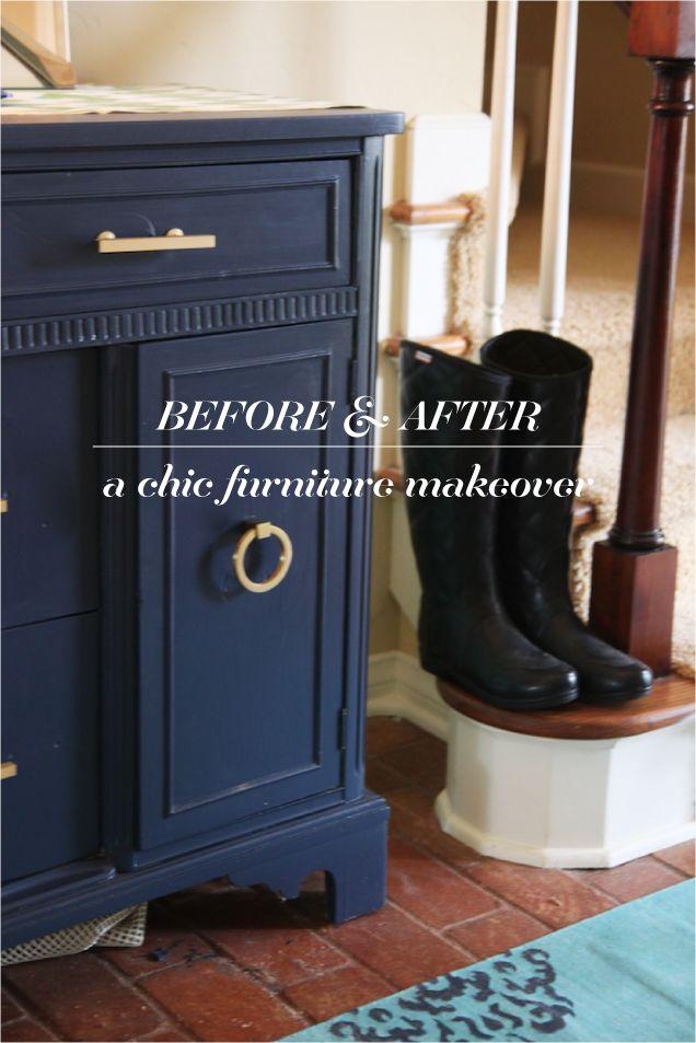 before & after: sideboard  #furniture #makeover #DIY