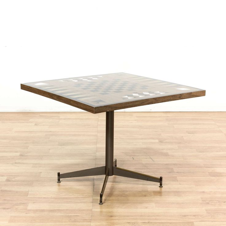 Mid Century Modern Game Table - Loveseat is the best way to buy vintage home furniture in San Diego, Los Angeles & Orange County. Shabby Chic, Danish Modern, Mid Century Modern and much more.