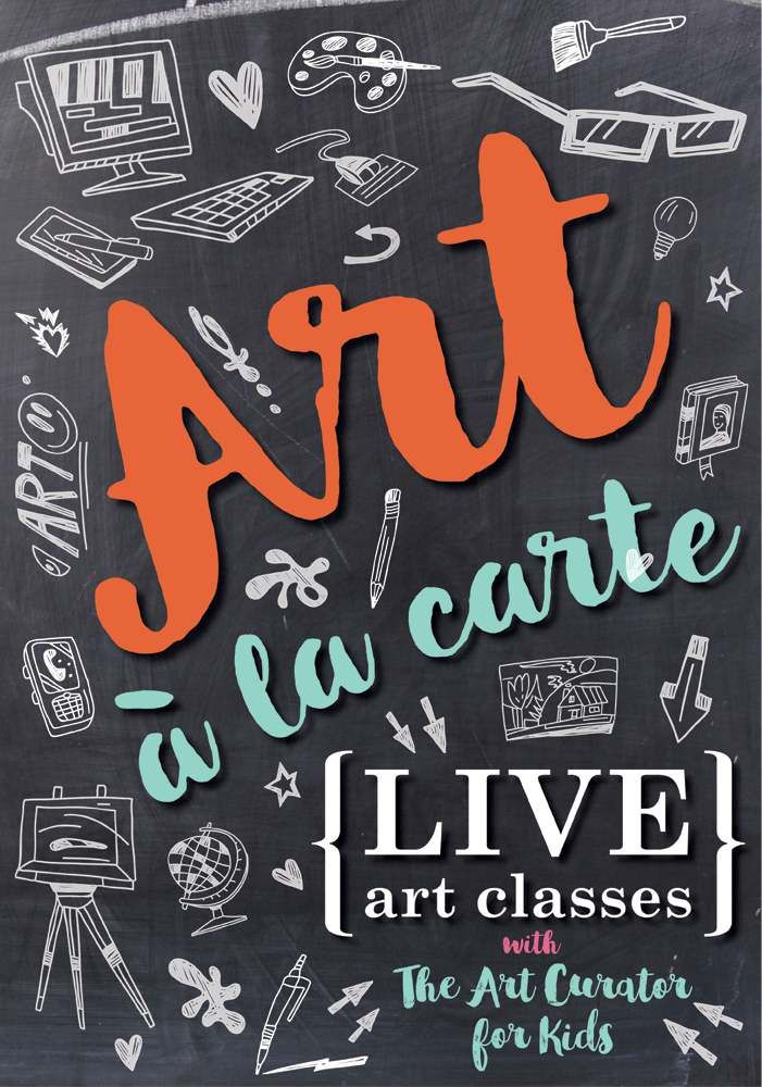 Free, live online art classes for kids and adults! Learn about works of art together.