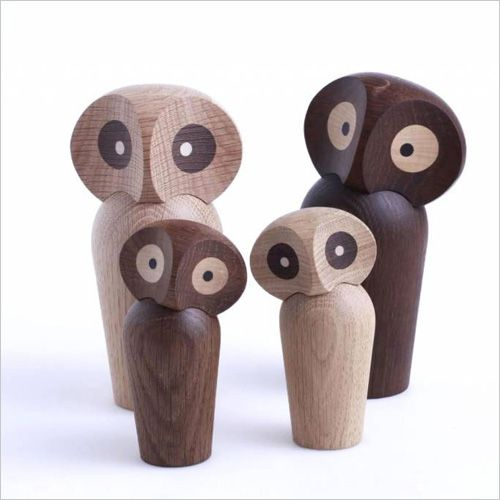 Wooden owls by Paul Anker Hansen