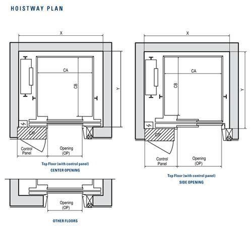 Compact Mrls Plan Of Hoistway Diploma Elevator