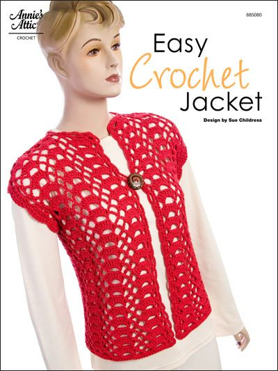 Easy Crochet Jacket Crochet Patterns Pinterest