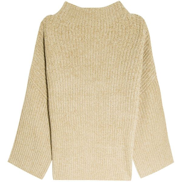 THE ROW Kaila Sweater found on Polyvore featuring tops, sweaters, slouch sweater, textured sweater, baggy sweaters, slouchy sweater and ribbed top