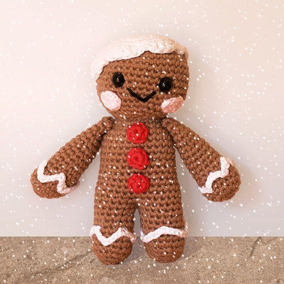Gingerbread Man  Christmas Patterns. Amigurumi PDF by Mindundia