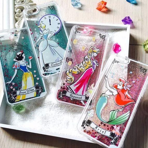 Liquid Glitter Phone Case Disney Princess Inspired by LDsCraftShop