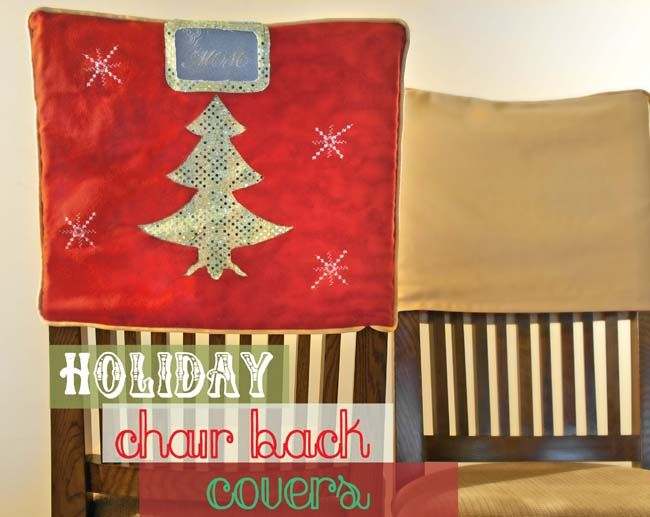 Christmas Tree Chair Back Cover Tutorial With Name Tag On The Train To Crazy