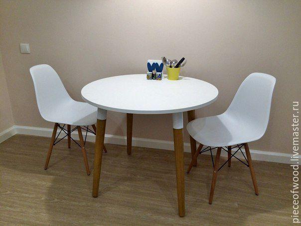 Купить Стол круглый - комбинированный, стол, стол из дерева, обеденный стол, для дома, круглый стол