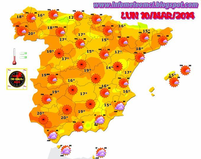 ¿ COMO HARÁ MAÑANA LUNES 10/MAR/2014 ? , ¿ HABRÁ NUBES EN TU CIUDAD ? AVERIGUALO AQUI !!..  prevision detallada en : www.infometeomcl.blogspot.com  VOTA NUESTRO BLOG : http://plumeame2.blogspot.com.es/2014/01/infometeomcl-plumeame.html