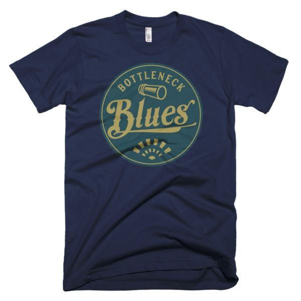 Classic bottleneck blues music design for the blues music fan.