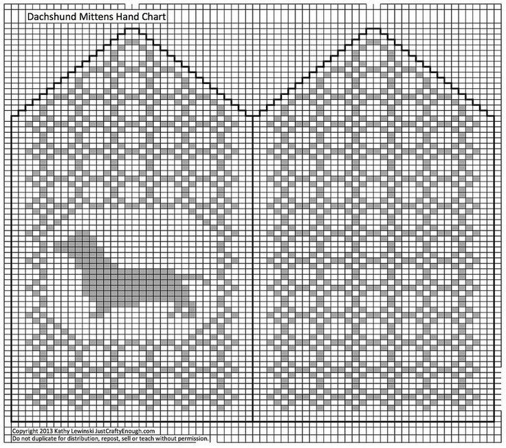 dachshund mitten chart