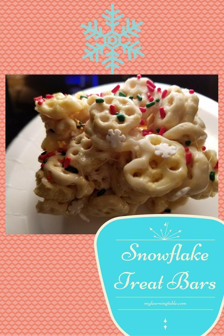 Snowflake Treat Bars mylearningtable.com