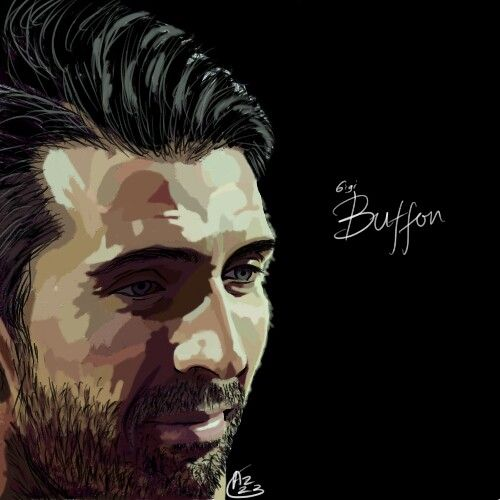 Gigi Buffon digital painting