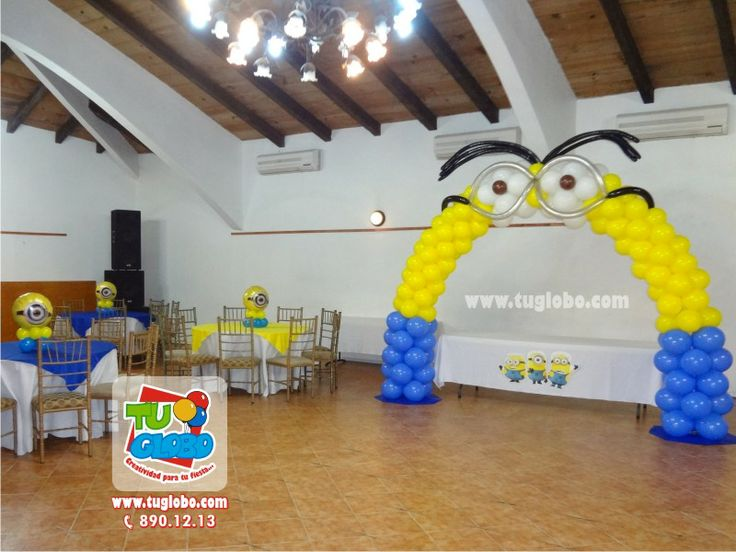 Minions Decoracion Para Fiestas ~ globos de Minions Decor, Balloon Decor, Decoration With, De Minions