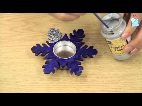 How to create crackle-effect tealight holders