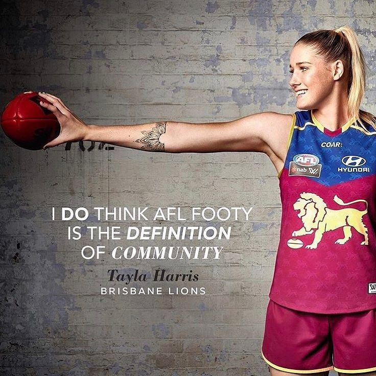 Exceptionally awesome to see the official launch of women's AFL footy today @aflwomens  As a Brisbane girl I'll be supporting the Lions @brisbanelions what about you? #aflwomens #kickasswomen