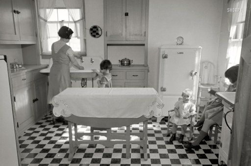 February 1936. Kitchen in Westmoreland Homesteads. Mount Pleasant, Pennsylvania.