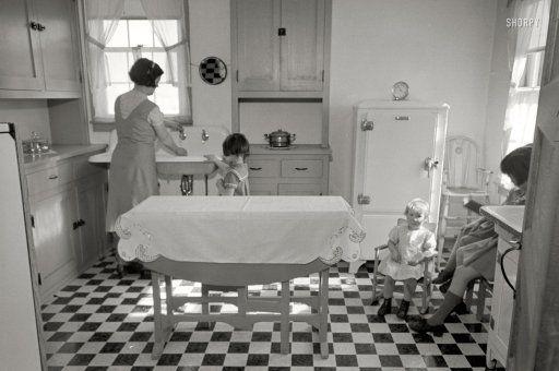 February 1936. Kitchen in Westmoreland Homesteads. Mount Pleasant, Pennsylvania.
