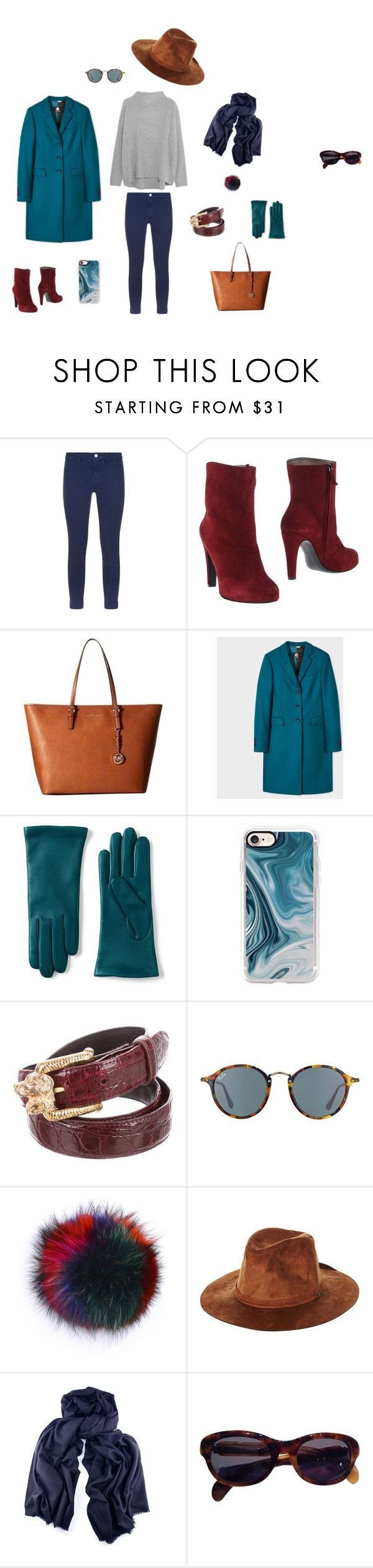 """Лук №3 (серый свитер)"" by madlily86 on Polyvore featuring мода, Vince, J Brand, New York Industrie, MICHAEL Michael Kors, Paul Smith, Lands' End, Casetify, Ray-Ban и Bobbl"