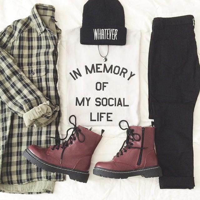 Outfit auf den Punkt gebracht, muss haben !! #grungeoutfitswinter