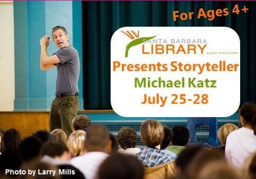Michael Katz Performs at Local Santa Barbara Libraries July 25-28
