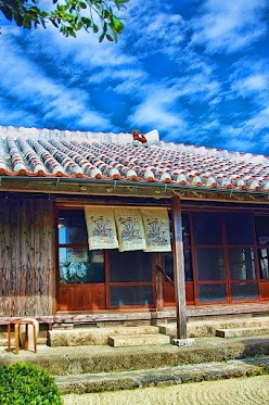 Traditional house desing in Okinawa, Japan.