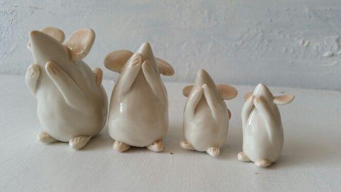 Limoge porcelain Mice family