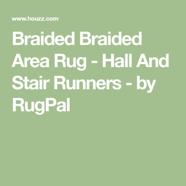 Braided Braided Area Rug - Hall And Stair Runners - by RugPal
