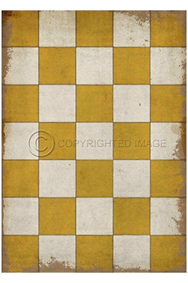 My Vintage Checkered Floorcloth From Sturbridge Village Workshop 21 X 30 Inches Floor Cloth Vinyl Flooring Vintage Floor